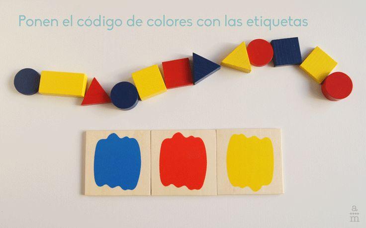 Serpientes de colores con los bloques lógicos - Aprendiendo matemáticas