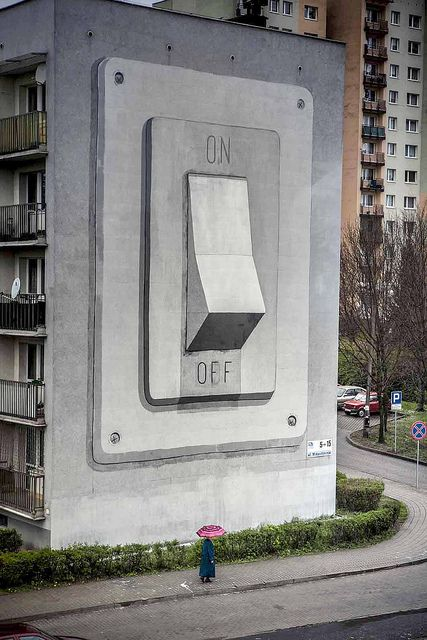On / Off (Katowice, Poland) by escif, via Flickr