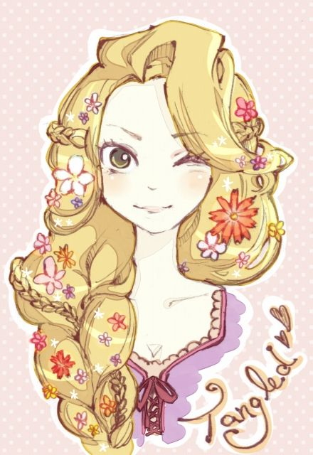 "Rapunzel from ""Tangled"" - Art by 冬未いつる"