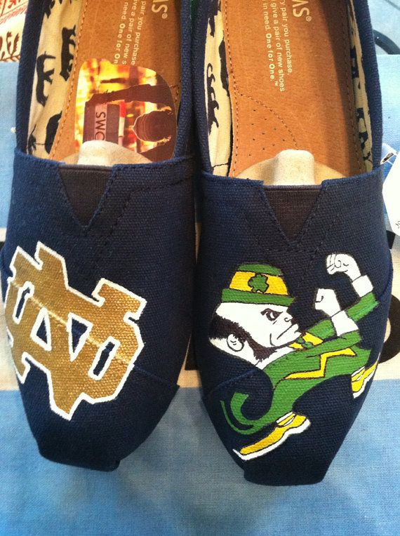 Notre Dame Toms  by DesignofFaith on Etsy, $100.00. i'm in love! size 8