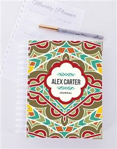 gifts: Personalised Bold Patterned Journal!