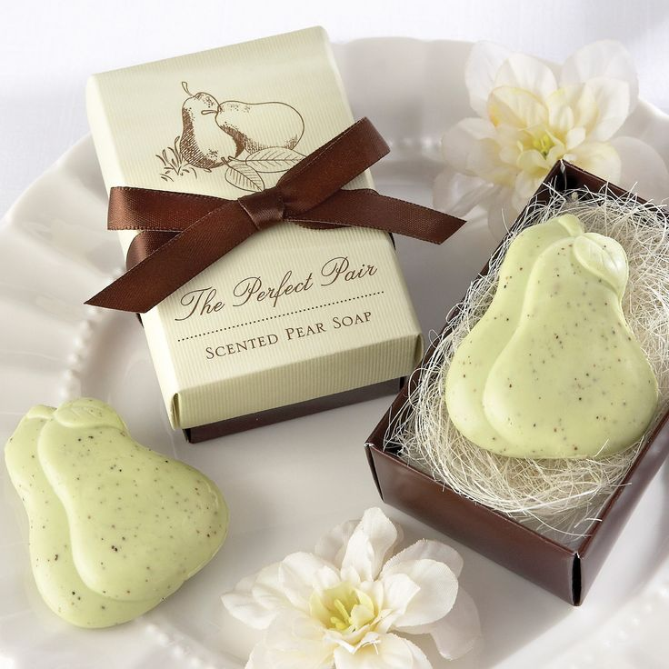 The Perfect Pair Scented Pear Soap Wedding Favor | #exclusivelyweddings