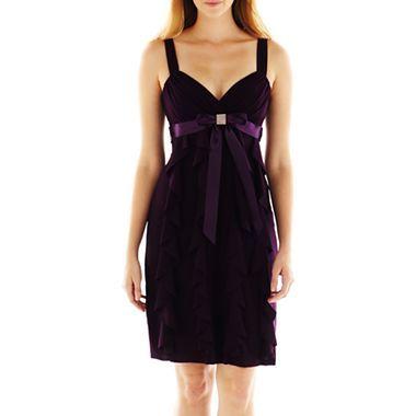 Dj jaz ruffled bow front dress jcpenney