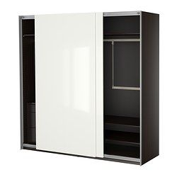 PAX Wardrobe with interior organizers - IKEA