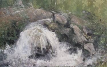 "Saatchi Art Artist simone Butturini; Painting, ""The lizard and the waterfall"" #art"