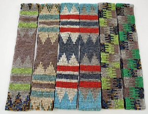 bead belt, with various colors