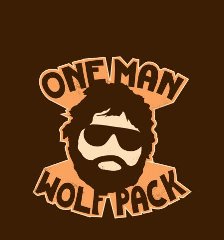 One Man Wolf Pack  #Pack #Wolf TshirtPix.com