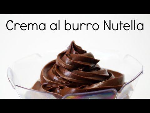 Crema al burro con cioccolato (nutella) e brandy