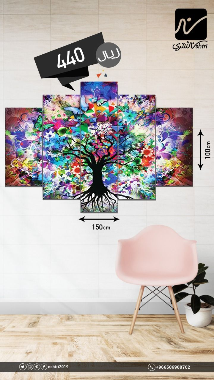 Forex Multicolors Abstract Wall Art Home Decor Decals Decor