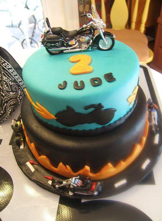 Harley motorcycle birthday cake Jude's 2nd birthday  boys birthday cake