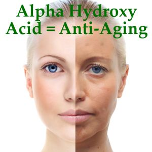 Dr Oz went into the world of Alpha Hydroxy acids. These are acids that occur naturally and really help anti-aging better than expensive creams and potions.