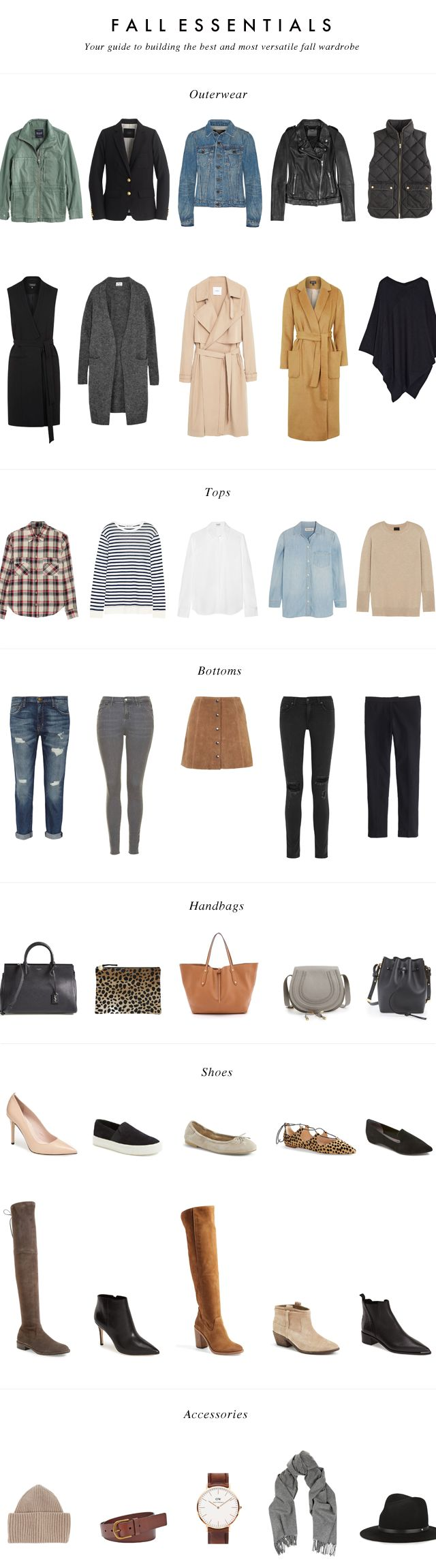 Fall Essentials: Your Guide to building the best and most versatile fall wardrobe