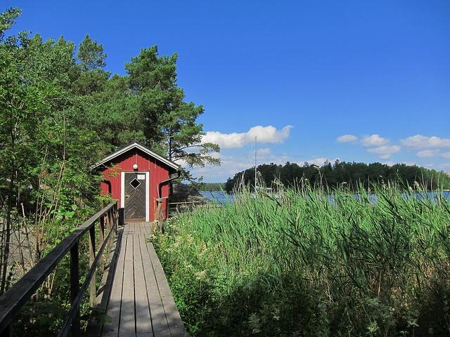Sauna in the Stockholm Archipelago. by strangebehaviour, via Flickr
