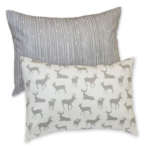 Sweet Kyla - GREY DEER Decor Nursery Pillow - Lumbar Style, $24.99 (http://www.sweetkyla.com/grey-deer-decor-nursery-pillow-lumbar-style/)
