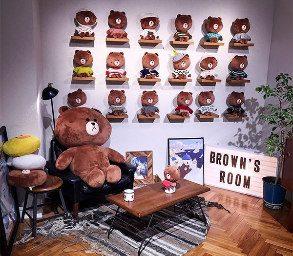 Brown's Room at the  LINE Friend's Store, Harajuku, Tokyo, Japan