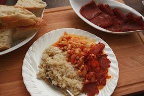 Das türkische Nationalgericht > Kuru Fasulye ~ weiße Bohnen mit Reis auf türkische Art