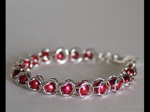 DIY: Jump Ring Bracelet – Chain Maille Bracelets + Tutorial .