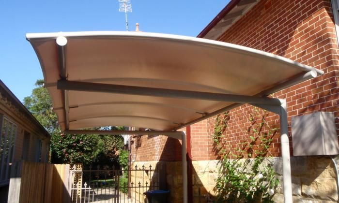 Carport Awnings Product : Cantilevered carport awning outrigger awnings