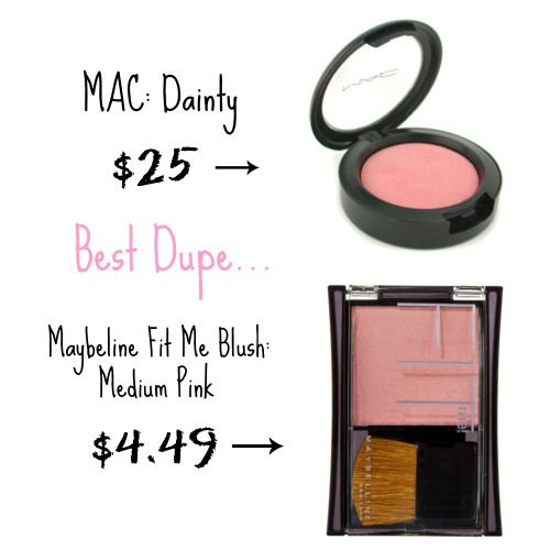 Top Drugstore makeup dupes: Blushes; Maybelline Fit Me Blush Medium Pink