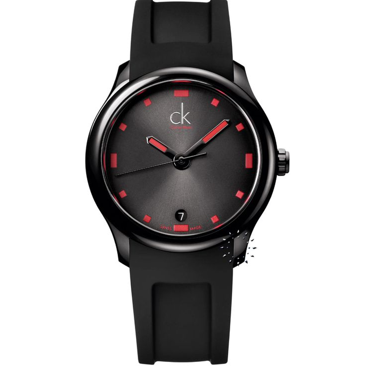 CALVIN KLEIN Visible Black Rubber Strap Η τιμή μας: 248€ http://www.oroloi.gr/product_info.php?products_id=26857