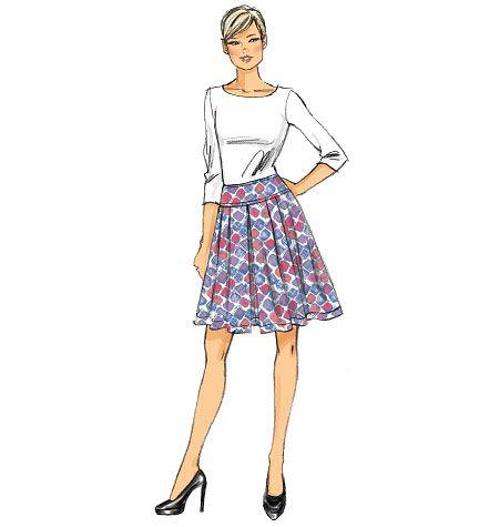 Very Easy Vogue V9090, Misses' Skirt. £12