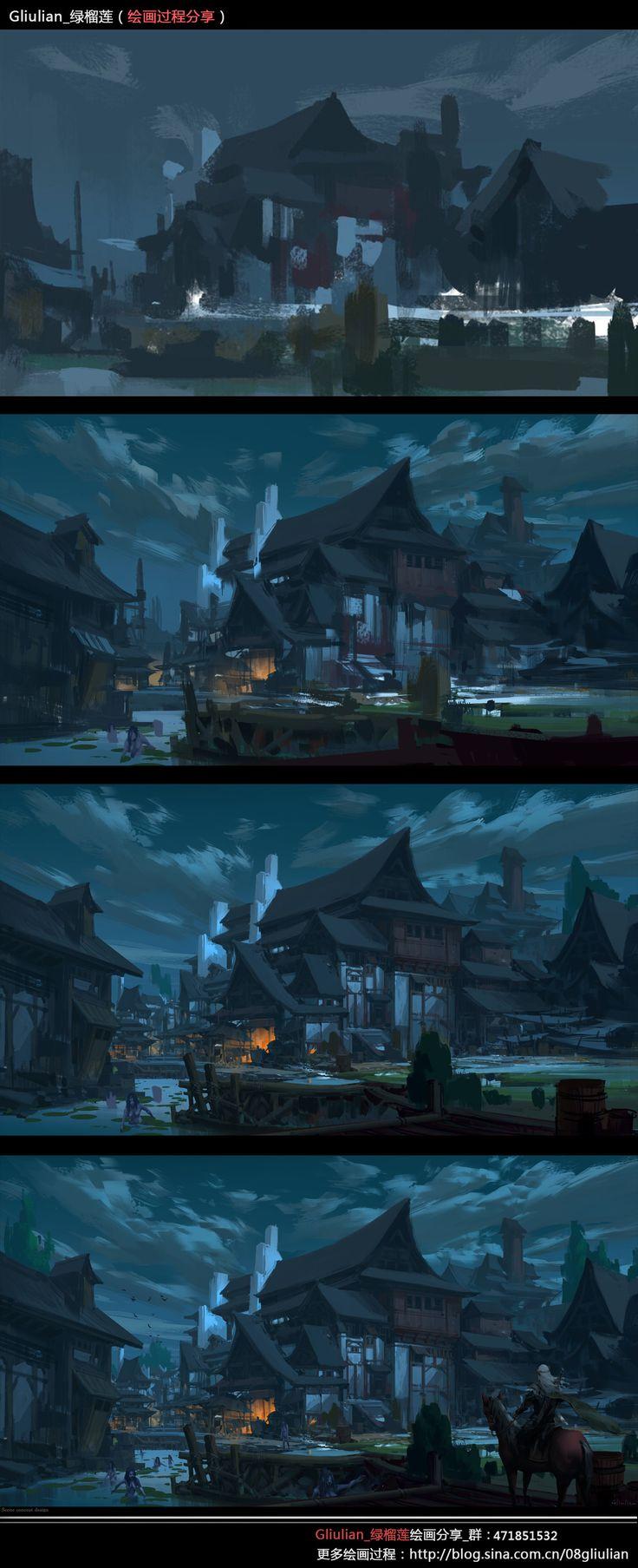 ArtStation - Painting Process~1, G liulian