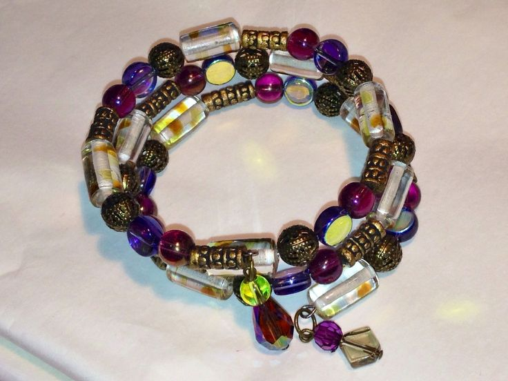 Jewelled Designs - Purple Gold and Green wrap bracelet, $20.00 (http://www.jewelleddesigns.com/purple-gold-and-green-wrap-bracelet/)