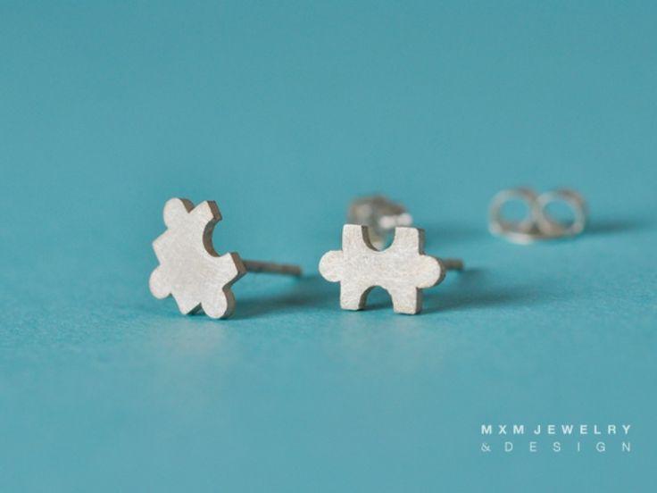 MXM Jewelry / Tiny Puzzle Stud Earrings