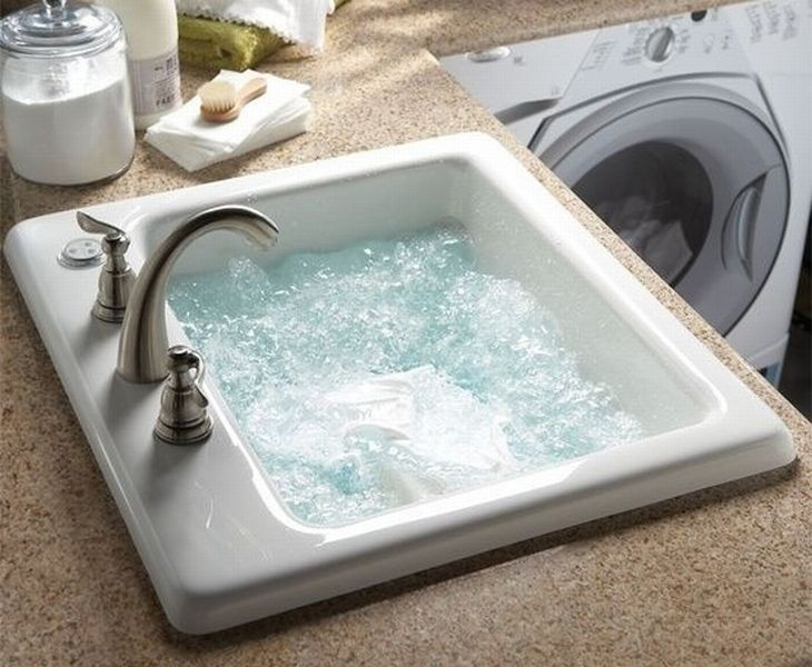 Jets in the laundry room sink for easy hand washing Houses,Furniture ...