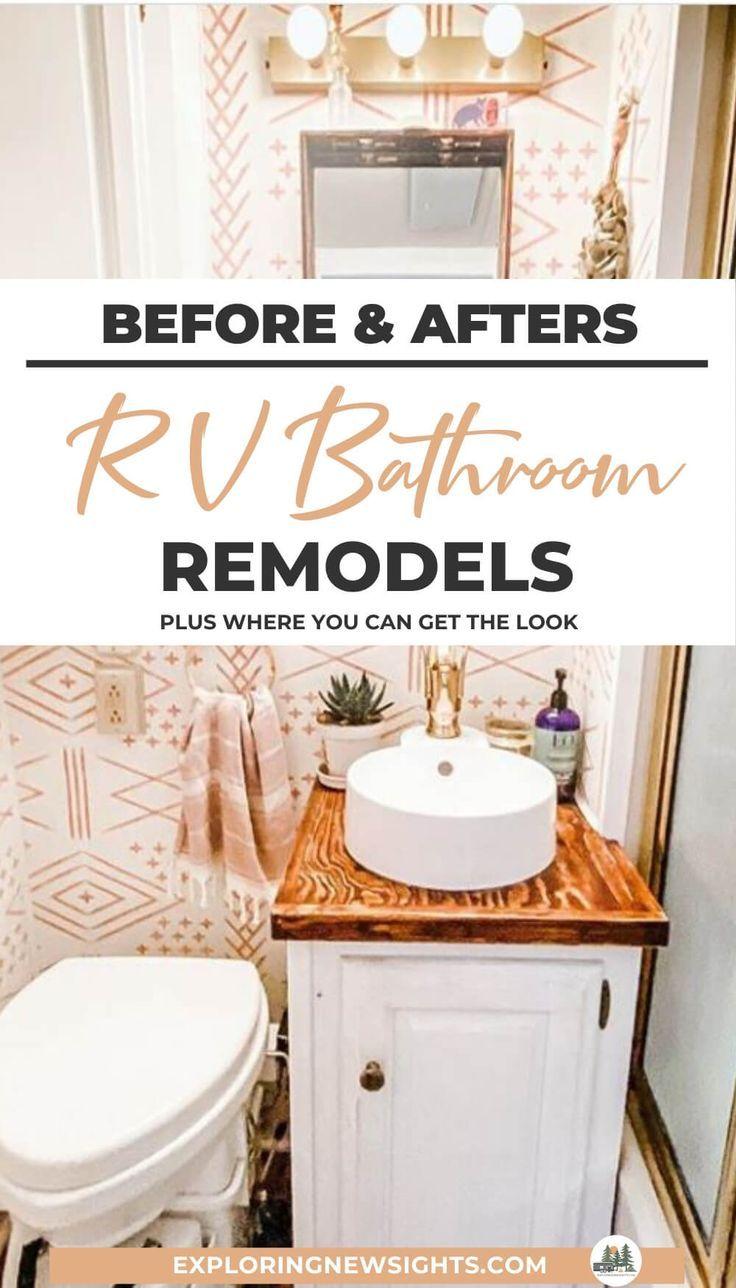 24 Rv Bathroom Remodels For Inspiration Before And After Pictures Rv Bathroom Bathrooms Remodel Rv Kitchen Remodel [ 1288 x 736 Pixel ]
