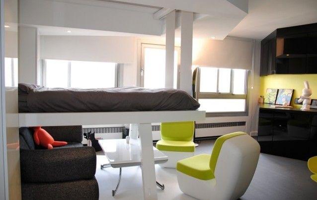 Les 25 meilleures id es de la cat gorie lit escamotable plafond sur pinterest - Lit suspendu electrique ...