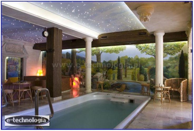 Zestaw Mgławice - eleganckie oświetlenie basenu