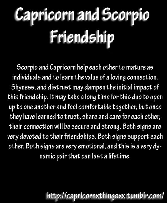 Scorpio and Capricorn friendship #Scorpio #astrology #zodiac https://www.facebook.com/ScorpioEvolution