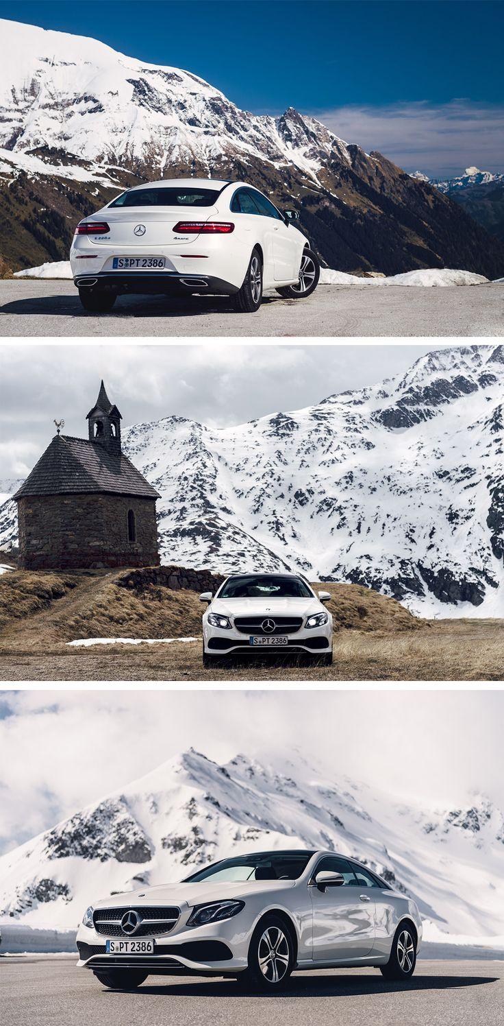 Breathtaking: A trip to the Alps with the Mercedes-Benz E 220d Coupé.  Photos by Kunal Kelkar (www.theautofocus.com) for #MBsocialcar [Mercedes-Benz E 220d | Fuel consumption combined: 4.6–4.0 l/100km | combined CO₂ emissions: 119–106 g/km | http://mb4.me/efficiency_statement]