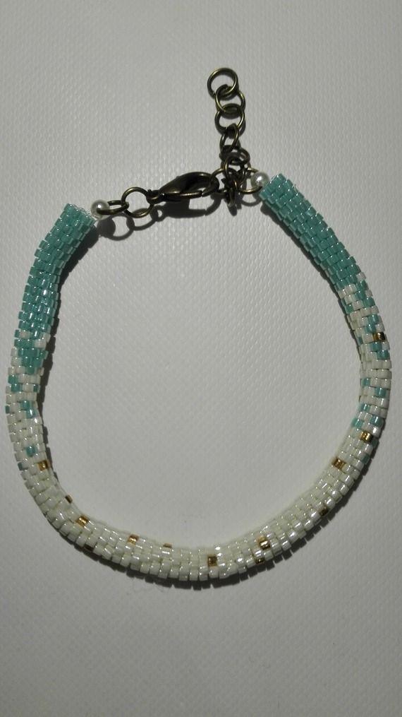 Bracelet perles miyuki - tissé en tube