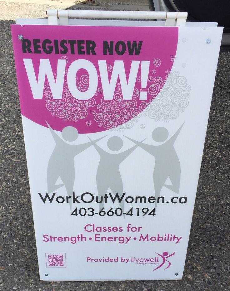 WorkOut Women sandwich board