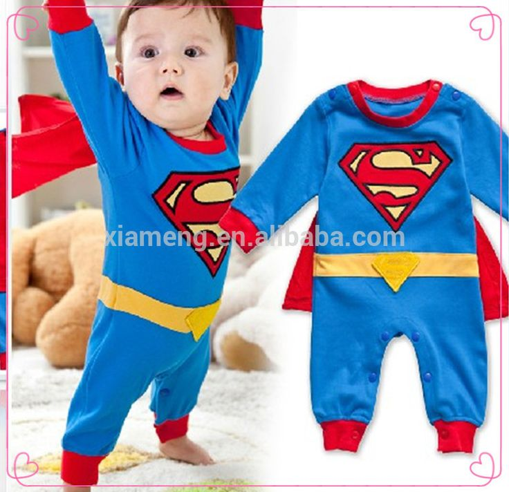 super hero long sleeve baby boys romper superman halloween costume