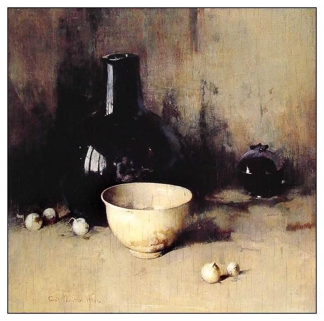 "SØREN EMILE CARLSEN Still life with self-portrait, Not ""Jean-Baptiste Siméon Chardin """