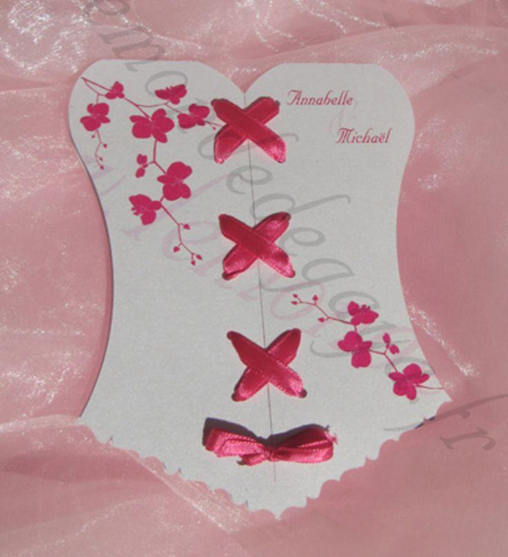 11 best Faire part de mariage bustier corset personnalisable