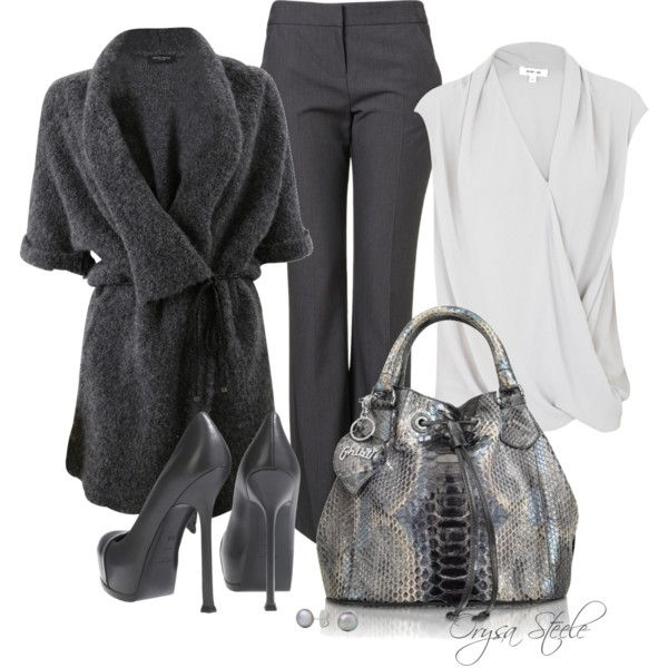 """""""Great in Grey"""" by orysa on Polyvore"""
