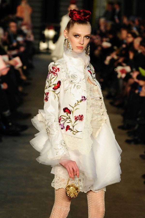 Christian Lacroix --Love the embroidered lace trimmed jacket!