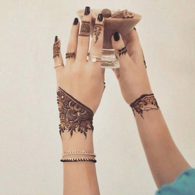 Border Style Natural Mehndi Design for Woman 2016 | mehndi designs for girls2016