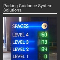 Infographic: Parking Guidance System Solution Displays