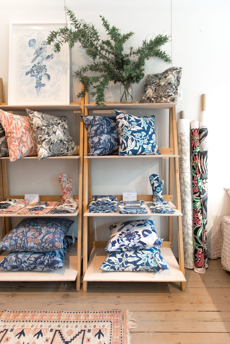 Utopia Goods hand screen printed accessories and cushions.