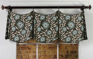 Delaine Curtain Valance Pattern - eclectic - curtains - other metro - by Pate Meadows Designs