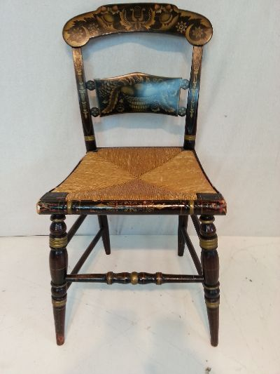 Hitchcock Chairs - Mass produced, do-it-yourself chair kits, stenciled,  highly decorated. - 18 Best Hitchcock Furniture Images On Pinterest Early American