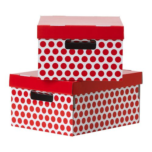 pingla caja con tapa rojo 28x37x18 cm ikea beautiful boxes pinterest best storage ideas. Black Bedroom Furniture Sets. Home Design Ideas