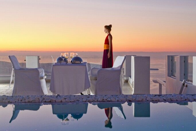 It is that magic moment of the day, when the sunset colours lead you towards a candle-light dinner of taste and romance... (See more at http://www.gastronomysantorini.com and http://www.candlelightdinnersantorini.com)