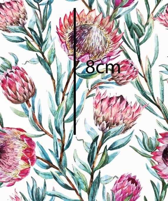Floral Knit Fabric Cotton Lycra 220 Gsm Jersey Knit Protea Australian Digital Print Material Cotton Woven Spandex 95 5 Oeko Tex In 2020 Protea Flower Protea Art Watercolor Pattern