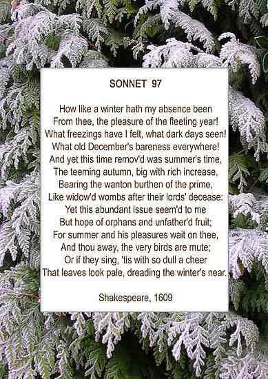 william shakespeare | sonnet 97